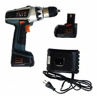 Li-Ion Cordless Drill Driver with Keyless Chuck and LED Worklight